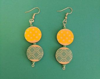 Sunshine and waves earrings