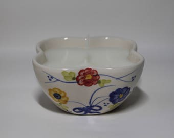 candle in modern bowl