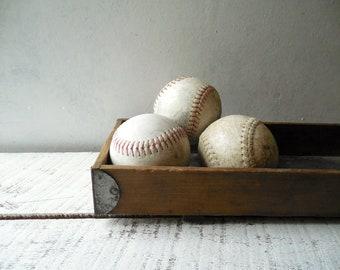 Vintage Sports Softball Bowl Filler ~ Home Team Sports Bar & Game Room Decor – Batter Up!  /0734