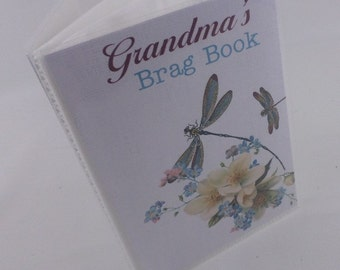 Grandma Brag Book Personalized Photo Album family photo book boy Baby Shower Gift 4x6 photo album or 5x7 photo album picture dragonfly 362
