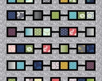 Quilt Pattern, PDF, instant download, Charm Pack, modern patchwork