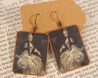 Anna Amalia earrings Composer jewelry Classical Music mixed media jewelry
