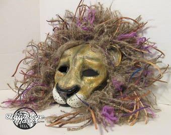 Leo, Lion mask, big cat, masquerade mask, King, Aslan, Anthro, Zodiac, lion mane options, custom made, custom options, made to order