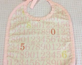 Counting Pink Stars Baby Bib