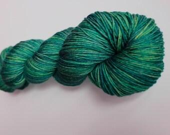 Hand Dyed Superwash Merino Sock Yarn
