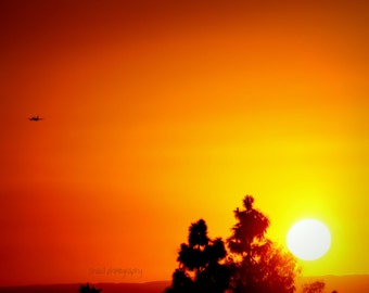 Sunset nature skyscape color photography