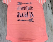 "Girls ""Adventure Awaits"" Onesie- Baby Girl- B..."