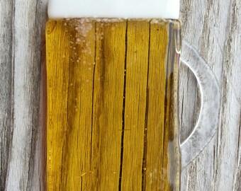 Beer Mug Lager Beer Glass Christmas ornament suncatcher Christmas window decoration