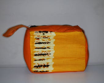 Makeup Bag, toiletries, cosmetic bag, travel pouch, African, makeup zipper pouch, sleepover pouch, lipstick bag, powder room, Spa and beauty
