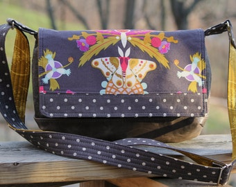 The Magnolia Mini Messenger Cross Body Bag - PDF SEWING PATTERN