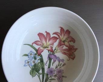 """Noritake lässig Gourmet Garten 9"""" Servier Schale Amaryllis Blumen Blume Sri Lanka Vintage Runde China - #M1025"""