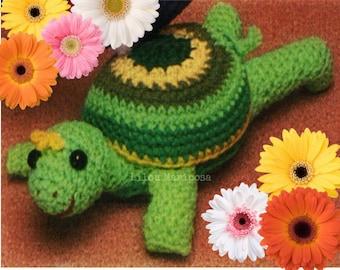 Crochet TOY Pattern Vintage 70s Crochet Turtle Pattern Amigurumi Pattern
