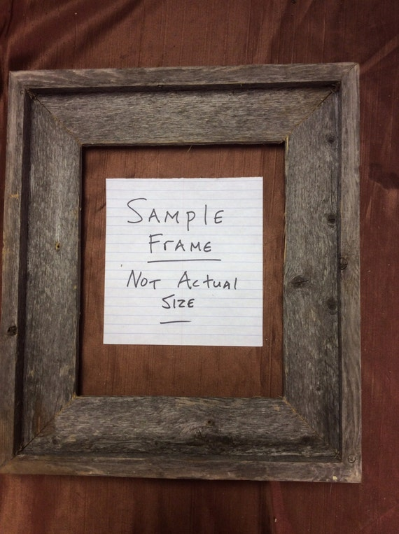 Standard 24x28 Barn Wood Picture Frame, Hand Crafted One at a Time ...