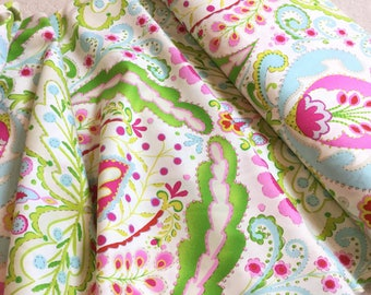 Kumari Garden ~ Teja Pink~ Dena Designs For Free Spirit Fabrics Collection,  Cotton Quilt Fabric