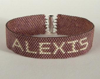 Personalized Seed Bead Friendship Bracelet