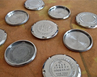 Vintage Watch parts cases backs- Steampunk - Scrapbooking R71