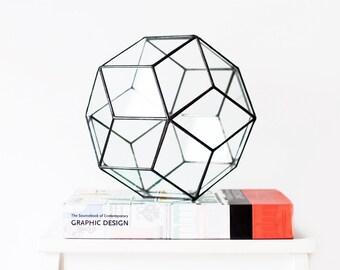 Terrarium Container, Geometric Wedding Centerpiece, Gardening Gift, Large Glass Vase, Home Decor, Mom Gift, Succulent Planter, Moss Bowl