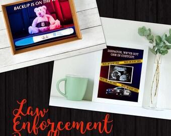 Law Enforcement Announcement Bundle - Instant Download - Pregnancy Announcement