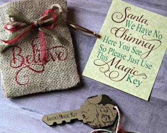Santa's Key - Santa's Magic Key - Santa Key -  Magic Key - Christmas Key - Christmas Keepsake - Gift for Boy - Gift for Girl - Gift Under 15