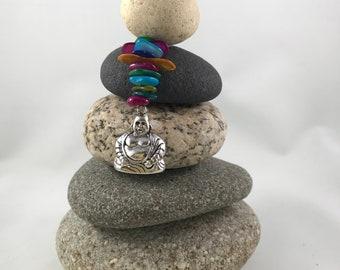 Cairns, Buddha, Charm, Beads, Home Decor, Meditation, Rocks, Feng Shui, Gift,