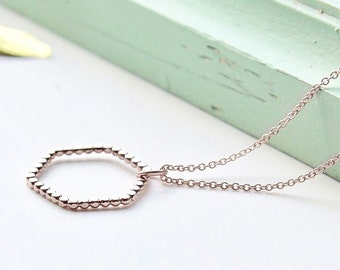 Hexagon silver Necklace