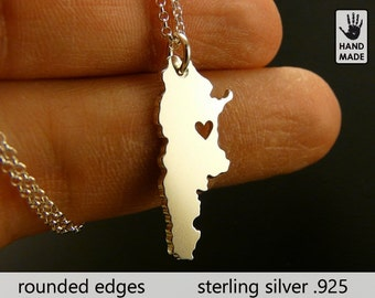 ARGENTINA Map Handmade Personalized Sterling Silver .925 Necklace in a gift box
