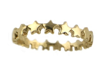 Star Ring      eternity silver gold stacking stackable jewelry