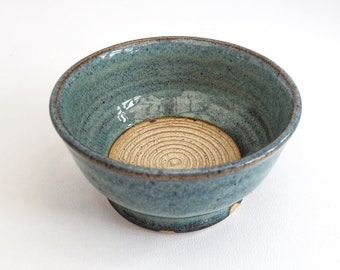 Shaving Bowl/Pot with lather building unglazed centre, blue and bronze, hand-thrown, ceramic, Stoneware, artisan, UK studio pottery•In Stock