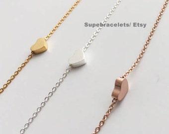 Heart Bracelet ,Gold/Silver/rosegold heart bracelets, heart bracelets, Weddings, bridesmaid gift, bridesmaid