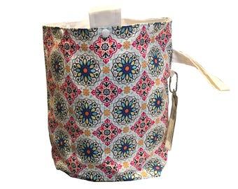 Flower Mandalas Project Bag Bucket Bag extra tall