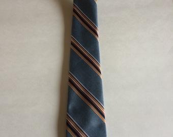 Vintage Pierre Cardin Blue Striped Skinny Men's Necktie - Father's Day Gift, Dad Gift