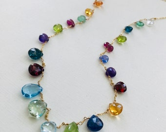 Briolette Spectrum Necklace