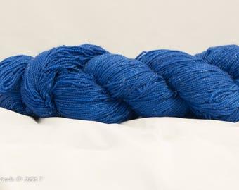 Time Traveller Blue Hand Dyed Merino Sparkle Sock Yarn