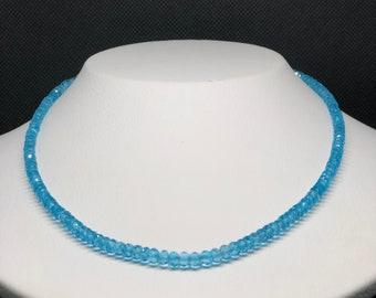 Magnificent Swiss Blue Topaz Gemstone Necklace