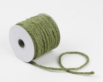 3.5 mm x 25 yd Jute Rope Moss Green | Rustic Jute Twine