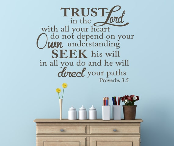 Trust in the lord bible verse scripture vinyl wall art decal