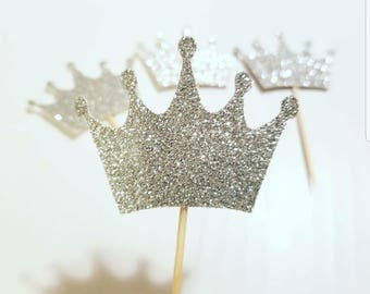 Crown cupcake toppers,Princess cupcake toppers,crown toppers