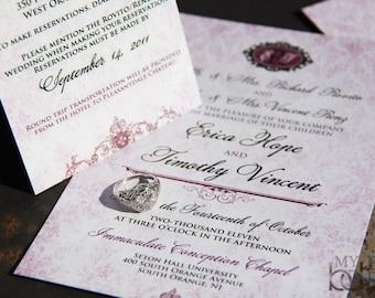 Vintage Victorian Wedding Invitation Suite