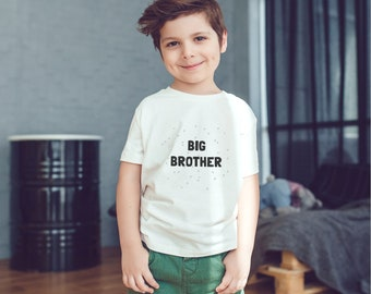 Modern Big Brother Tshirt - Big Bro Shirt, Cute Big Brother T-Shirt, Birth Announcement, Sibling Gift, Brother Gift, Boys Clothing, Simple