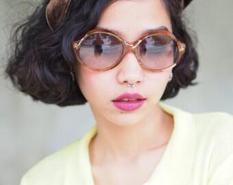 Vintage Diane Von Furstenberg Sunglasses Multi Color Nos Frame France 1970's Brown