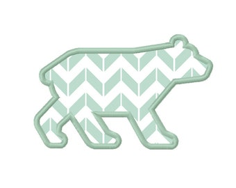 11 SIZES Bear Applique Embroidery Designs Machine Embroidery Designs PES Embroidery Pattern - Instant Download