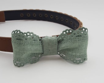 Dog Collar Slip On Bow Tie