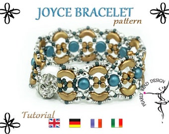 Joyce bracelet pattern tutorial from Arcos and Minos beads (pdf file)