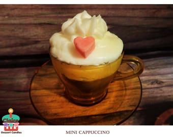 Mini Cappuccino Dessert Candle /w saucer