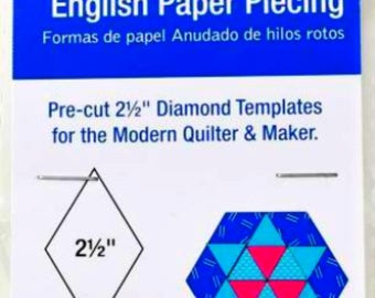 DRITZ English Paper Piercing 2 1/2 Inch Diamond Templates For The Modern Quilter - 100 Pieces