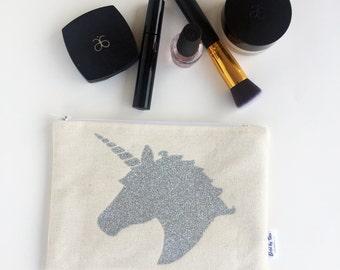 Unicorn Lover Gift - Unicorn Makeup Bag - Cosmetic Bag - Birthday Gift for Her