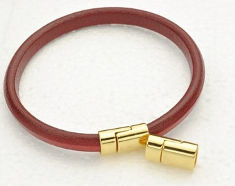 Magnetic Clasp for Licorice Leather - Gold -  for Leather Bracelet - Fits ALL 10x6mm Cord (Qty.1)