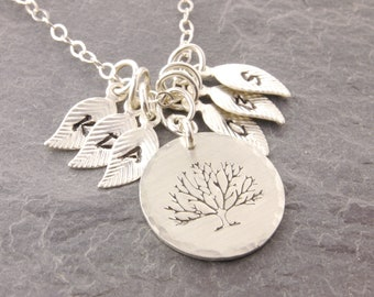 Tree of Life Pendant, mother necklace, nana, personalized jewelry, gifts for mom, mothers day gift, family necklace, family tree, N13