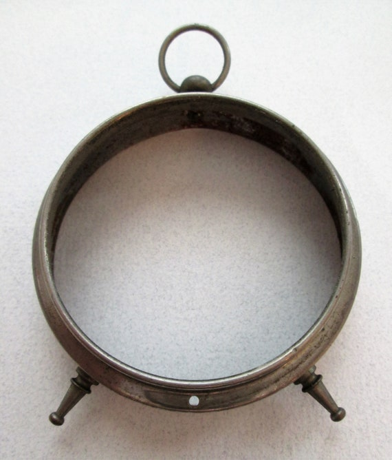 """1 Vintage Steel 2 3/4"""" Alarm Clock Bezel for your Clock Projects - Steampunk Art - Metalworking and Etc...."""