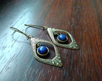 Art Deco & Lapis Lazuli earrings